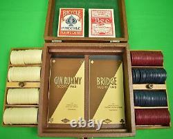 Jeu De Deux Plateaux De Clay Poker Horse Racing Chips Avec 2 Decks De Cartes