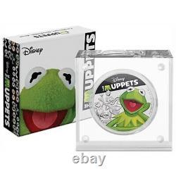 Kermit Et Miss Piggy Silver Sont Deux Pièces De 1 Oz. 999 Silver Cert Auth Nouveau