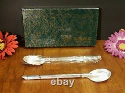 Korean Pure Silver 99 % Deux Ensembles Sujeo Chopstick & Spoon 140 Grammes Nos Exc Vtg