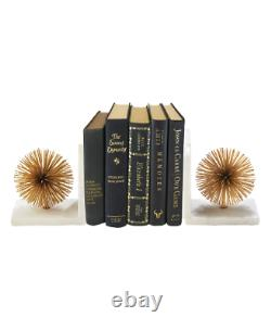 La Société Two's Gold Starburst Book Ends Set De 2 01996