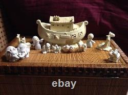 $ Moments Précieux Noahs Ark Deux 2 Par 2 Lot 11 Pièce Set 2 X 2 Objets De Collection