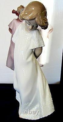 New Nao By Lladro #7019 Pretty And Shy (set) Bnib Two Girls White Dress Save$ Fs