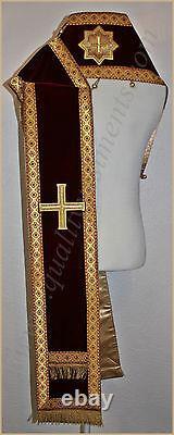 Orthodoxe Bishop's Vestment Omophors Allemand Velours Ensemble De Deux