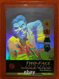 Overpower Holo Set 6 DC Batman Avenger Detective Catwoman Gordon Ra's Two-face