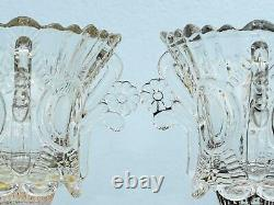 Paire De Deux Brûleurs De Lampe À Huile Murano Glass Bowl