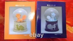 Pokemon Center Original Snow Globe Dome Alola Vulpix Rokon Ensemble De Deux Nouveaux F / S