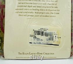 Ralph Lauren Randolph Red Two King Pillowcases Set Estate Home Collection Nouveau