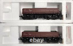 Rare Albert Modell H0 Pkp Wagons 418vc Ep. VC Jeu D'autodéchargement De Deux Wagons
