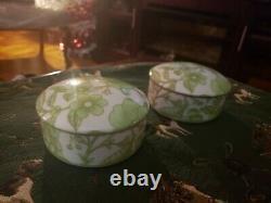 Rare Tiffany And Co. Japon Clinique Ensemble De Deux Boîtes De Bricolage En Porcelaine Aveclids