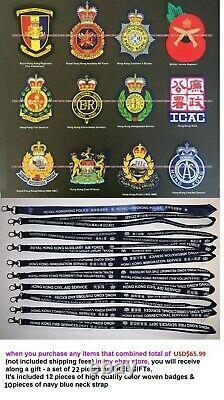 Royal Obsolète. Hong. Kong. Formation. École. Police. Bâton En Bois 24l, Ensemble De Deux Pc
