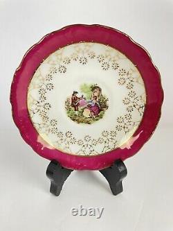 Royale Sealy Porcelaine Tea 17pc Set Rose & Or Deux Amours Dans Un Jardin B-1659