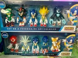 Sega Deux Set 17 CM Figurines Sonic Hedgehog Collection Rare Toy Action Movie Tv