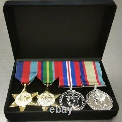 Série De 4 Répliques De Médailles De La Seconde Guerre Mondiale Grandeur Nature Dans La Boîte De Présentation