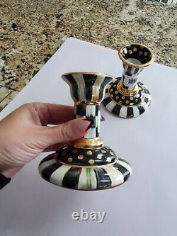 Set Of Deux Nouveaux Chandelles En Céramique Authentiques Mackenzie-childs