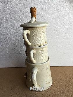 Thé Pour Deux Vintage Owl Set Cafetière Empilable Et Tasses Tree House Japon