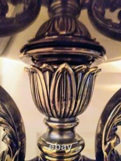 Vieille Paire Vintage De Deux Lampes Rembrandt MCM Floor Lamps Torchiere Modernism Set Lamp