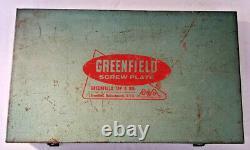 Vintage Greenfield Petit Géant Deux Pièces À Vis De Plaque Et Die Set, Orig. Boîte