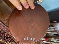 Virginia Metalcrafters Ahogany Williamsburg Wine Trays (ensemble De Deux) Rare
