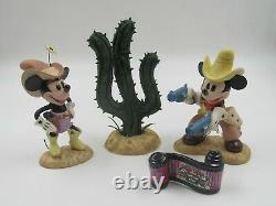 Wdcc Two Gun Mickey Special Commission Colorisé Set Wdac Convention Box Coa