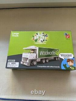 Woolworths Bricks All Ensemble Complet De 40+two Trucks+deluxe +figurine Pack