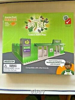 Woolworths Bricks All Ensemble Complet De 40+two Trucks+two Starter +figurine