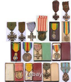 Wwi Ww1 Wwii Ww2 Première Seconde Guerre Mondiale Deux Médailles De France Française